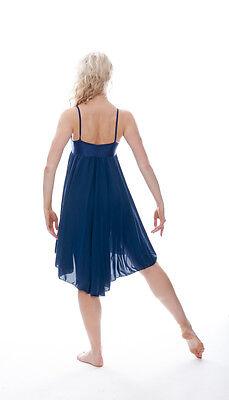 Donne Ragazze Blu Navy Lirico Abito Contemporaneo Balletto Danza Costume Da Katz 7