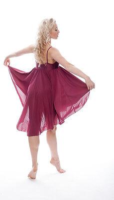 Donne Ragazze Bordeaux Lirico Abito Contemporaneo Balletto Danza Costume Da Katz 12