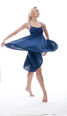 Donne Ragazze Blu Navy Lirico Abito Contemporaneo Balletto Danza Costume Da Katz 5