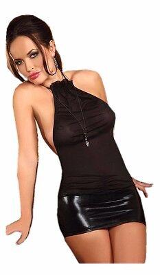 Super Mini Kleid mit Lackoptik - Rückseite zu schnüren - sehr sexy