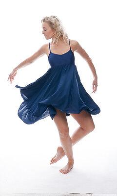 Donne Ragazze Blu Navy Lirico Abito Contemporaneo Balletto Danza Costume Da Katz 4