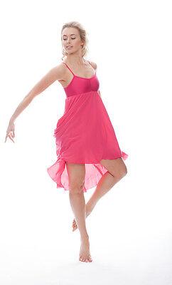 Donne Ragazze Fucsia Peonia Lirico Abito Contemporaneo Balletto Danza Costume 4
