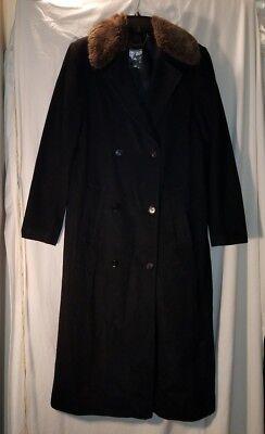Alina Coat Faux Fur Trim Duster Jacket Taupe Slimming Size S M XL 2X 3X PLUS