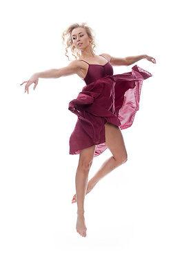 Donne Ragazze Bordeaux Lirico Abito Contemporaneo Balletto Danza Costume Da Katz 4