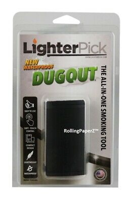 New! BLACK LIGHTERPICK Tobacco Dugout Smoking System - Water Tight & Smell Proof 6