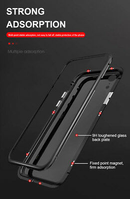 Magnet Hülle für Samsung Galaxy S8 S9 Plus Glas Metall Bumper Case Handy Hülle