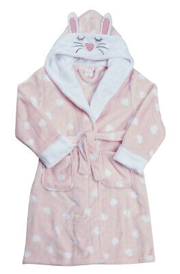 Kids Childrens Novelty Dressing Gown Robe Fun Fleece Character Design Ages 2-13 7