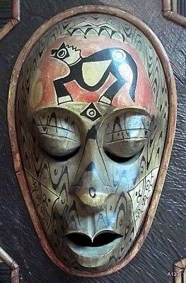 Quadro Etnografico Tribale Con Maschere In Legno. 6