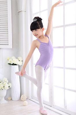 9dc2ad160 KIDS CHILD GIRL Dance Leotard Stretch Bodysuit Ballet Training Dress ...