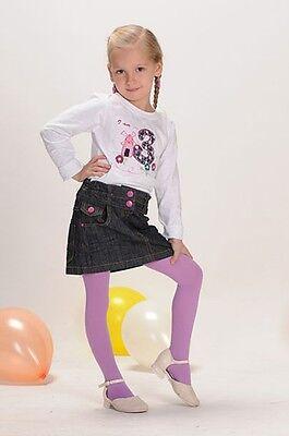 Weiche blickdichte Kinder Mädchen Baby Strumpfhose alle Größen Farben 67-158 11