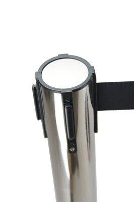 3x 3m Retractable Queue Crowd Barriers Crowd Control (Silver Pole & Black Belt) 3