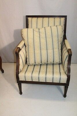 Elegant French Louis XV style Beech Wood Bergere Armchair With Down Cushion 2
