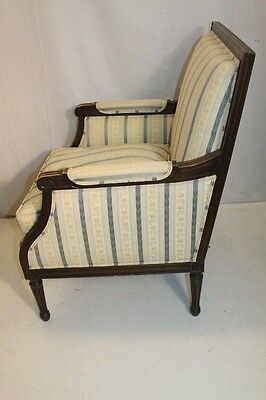 Elegant French Louis XV style Beech Wood Bergere Armchair With Down Cushion 5