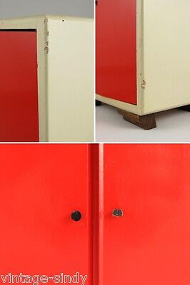 RED WOODEN CUPBOARD | Doll House Sized Accessory | Made in East Germany Ostalgia