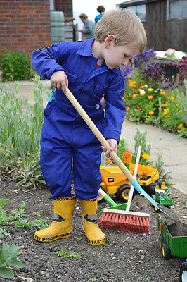 Childrens Kids Coverall Boilersuit Overall Apprentice Digger Driver 1-8yr