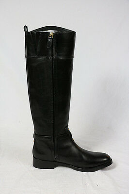 1e5c0c18cf32 ... Tory Burch MARLENE Boots RIDING Black FINNI Veg Leather small scratches  5