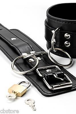 Neu Leder-Handschellen aus der Grey Velvet Collection schwarz 3