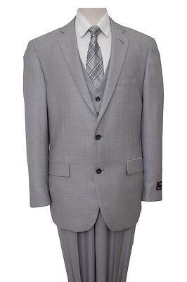 b4c7515002 ... 10 Men's 3 Piece Vest Notch Lapel Solid Textured Modern Classic Tailored  Fit Suit 3