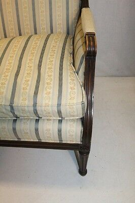 Elegant French Louis XV style Beech Wood Bergere Armchair With Down Cushion 3