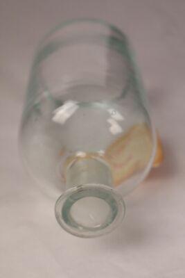 Apotheker Flasche Medizin Glas Tinctura Lobeliae antik Deckelflasche Email 12