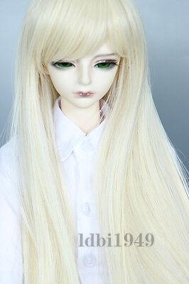 """1//3 8-9/"""" Bjd Wig Dal Pullip BJD SD MSD DOD DD Dollfie Doll Long Blonde wigs A12"""
