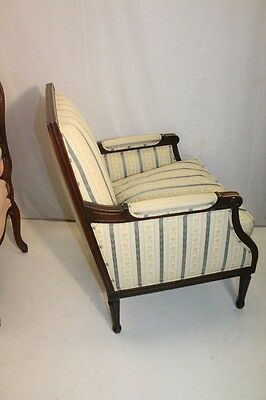 Elegant French Louis XV style Beech Wood Bergere Armchair With Down Cushion 12