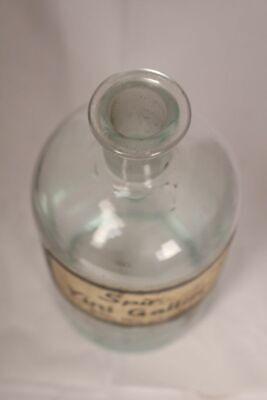 Apotheker Flasche Medizin Glas Spir. Yini Gallaicici antik Deckelflasche Email 2
