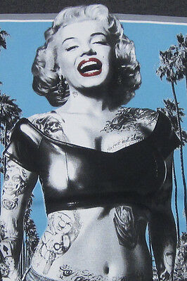 Velocitee Mens Vest Marilyn Monroe Outlaw Pop Art Tattoo Gangster A18519