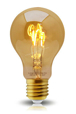 Vintage LED 2W Edison Style Filament Light Bulb B22 or E27 Twister ST58 A60 G95 7