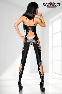 Wetlook-Overall Clubwear ouvert 2