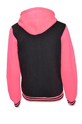 VESTE PULL SWEAT CAPUCHE ENFANT TEDDY COLLÈGE GRIS ROSE 9//10 11//12 ou 13 ans
