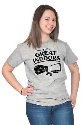 Great Indoors Lazy Couch Potato Video Gamer Mens Crewneck Pullover Sweat Shirt
