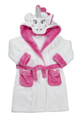 Kids Childrens Novelty Dressing Gown Robe Fun Fleece Character Design Ages 2-13 4