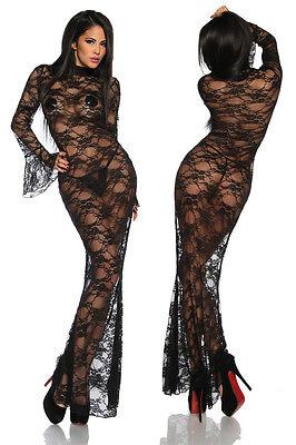 Sexy Spitzenkleid transparent Spitze Reizwäsche Erotik Kleid S - 3XL 36 - 46 Neu 2