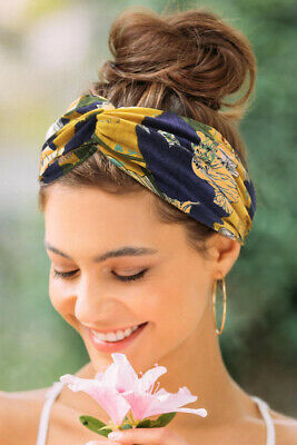 Women Girl Soft Turban Twist Headband Head Wrap Twisted Knotted Knot Hair Band 3