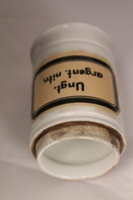Apotheker Arzt Medizin Porzellan Dose Flasche Ungt argent nitr antik Deckel 17cm 11