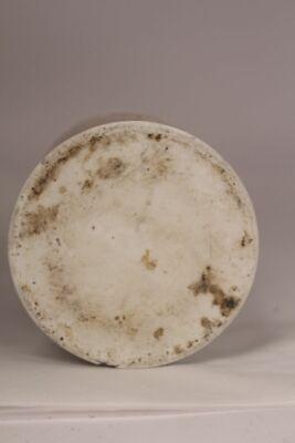 Apotheker Arzt Medizin Porzellan Dose Flasche Ungt argent nitr antik Deckel 17cm 9