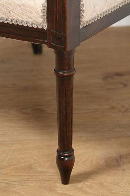 Antique French Louis XVI Style Walnut Salon Occasional Armchair (Circa 1880) 8