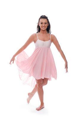 Donne Ragazze Rosa Pallido Lirico Abito Contemporaneo Balletto Danza Costume 3