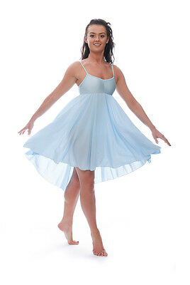 Donne Ragazze Blu Pallido Lirico Abito Contemporaneo Balletto Danza Costume 2