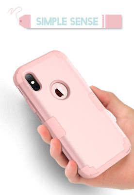 iPhone XS Max XR X 6 7 8 Plus Shockproof Armor Rubber Protective Hard Case Cover 6