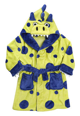 Kids Childrens Novelty Dressing Gown Robe Fun Fleece Character Design Ages 2-13 6