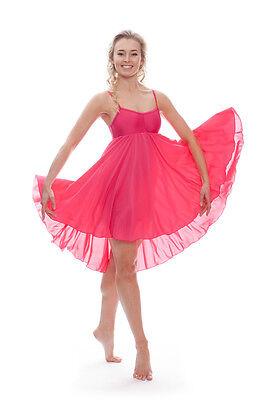 Donne Ragazze Fucsia Peonia Lirico Abito Contemporaneo Balletto Danza Costume 2