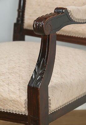 Antique French Louis XVI Style Walnut Salon Occasional Armchair (Circa 1880) 6