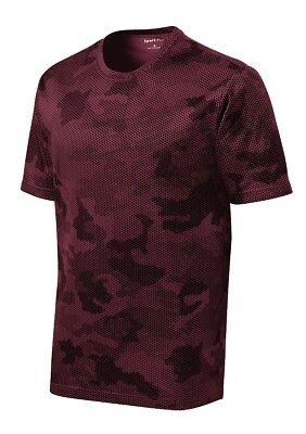 *NEW*SportTek DriFit T-Shirt Workout Performance Moisture Wicking Camo Hex ST370 6