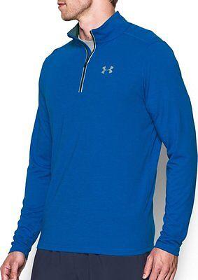 e2576a68 UNDER ARMOUR MENS Ua Streaker Running 1/4 Zip Shirt Blue #1271851-Nwt