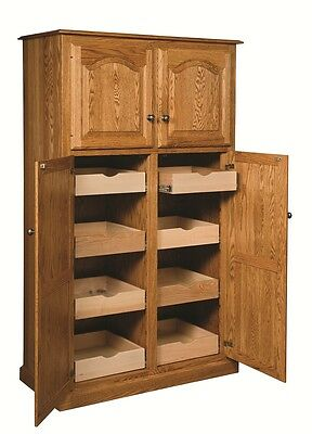 Amish Country Traditional Kitchen Pantry Storage Cupboard