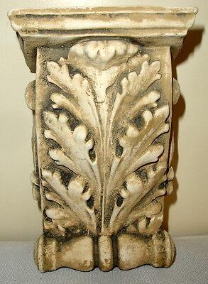 "Antique Finish Shelf Acanthus leaf plaster Wall Corbel Sconce Bracket 5.5"" 5"