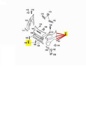 1 VITE FISSAGGIO PARAFANGO ANTERIORE SMART FORTWO 451 7//2007 /> 10//2014 ORIGINALE