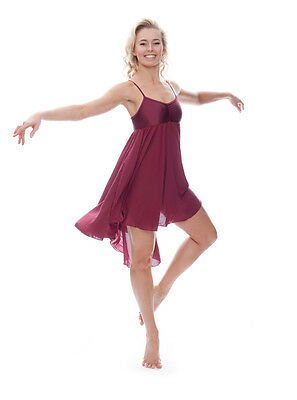 Donne Ragazze Bordeaux Lirico Abito Contemporaneo Balletto Danza Costume Da Katz 5